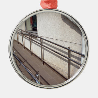 Ramp for physically challenged at the entrance metal ornament