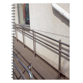 Ramp for physically challenged at the entrance notebook