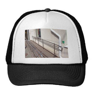 Ramp for physically challenged at the entrance trucker hat