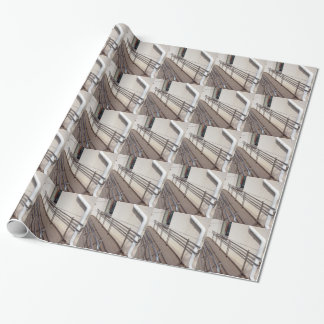 Ramp for physically challenged at the entrance wrapping paper