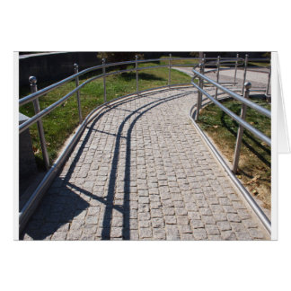 Ramp for physically challenged from the granite pa card