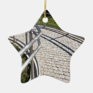 Ramp for physically challenged from the granite pa ceramic ornament