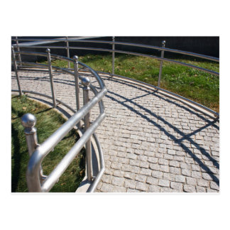 Ramp for physically challenged from the granite pa postcard