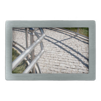 Ramp for physically challenged from the granite pa rectangular belt buckle