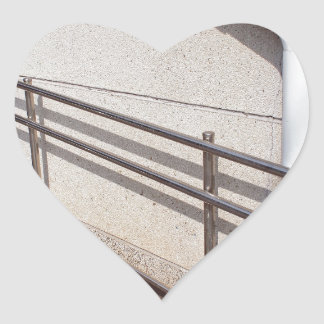 Ramp for physically challenged heart sticker
