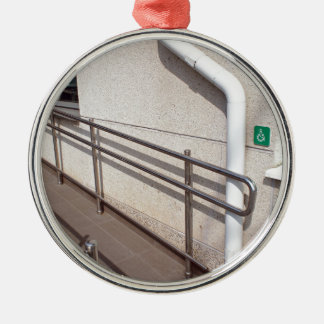 Ramp for physically challenged metal ornament