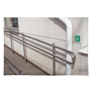Ramp for physically challenged placemat