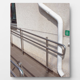 Ramp for physically challenged plaque