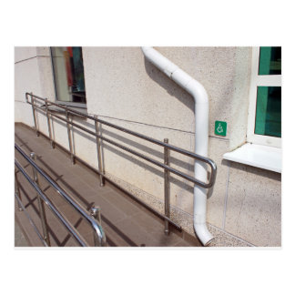 Ramp for physically challenged postcard