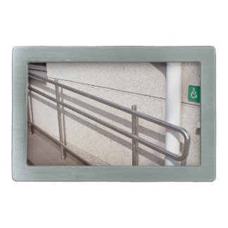 Ramp for physically challenged rectangular belt buckle