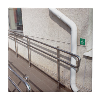 Ramp for physically challenged tile