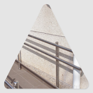 Ramp for physically challenged triangle sticker