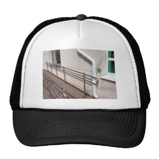 Ramp for physically challenged trucker hat