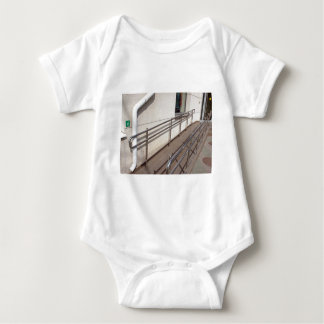 Ramp for physically challenged with metal railing baby bodysuit