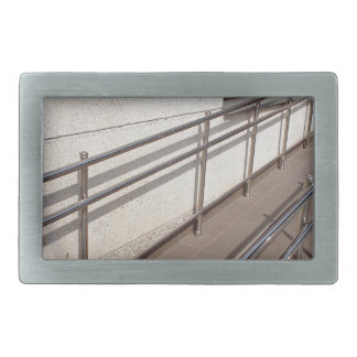 Ramp for physically challenged with metal railing belt buckle