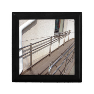 Ramp for physically challenged with metal railing jewelry box