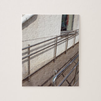 Ramp for physically challenged with metal railing jigsaw puzzle