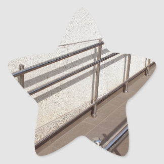 Ramp for physically challenged with metal railing star sticker