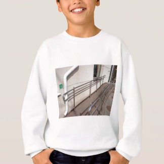 Ramp for physically challenged with metal railing sweatshirt