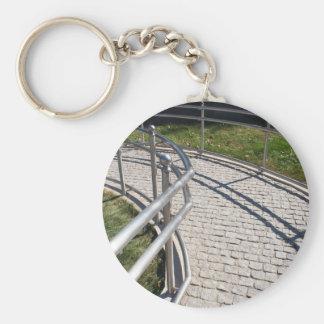 Ramp para desafiado físicamente del PA del granito Llavero Redondo Tipo Pin