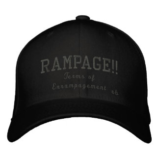 Rampage Terms of Enrampagement Embroidered Baseball Cap