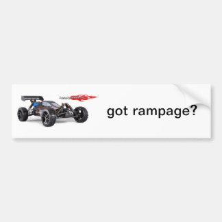 Rampage XBE Bumper Sticker