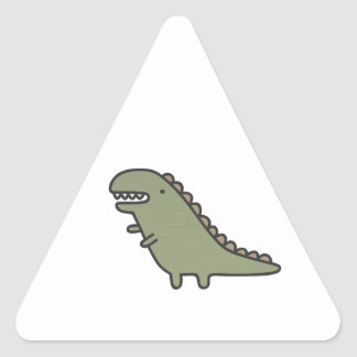 Rampaging Dinosaur! Triangle Sticker