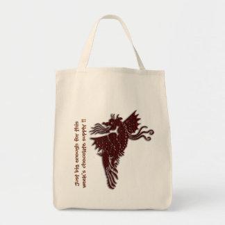 Rampant Chocolate Dragon holdall Canvas Bags