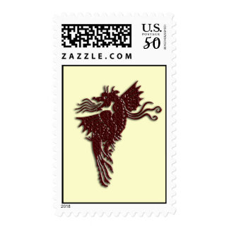 Rampant Chocolate Dragon Postage