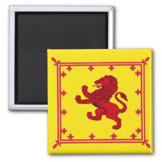 Rampant Lion banner 2 Inch Square Magnet