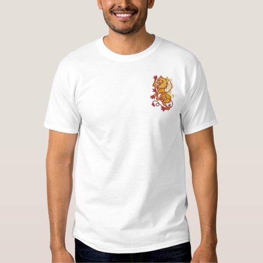 Rampant Lion Embroidered Polo Shirt