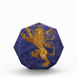 Rampant Lion - gold on blue Award