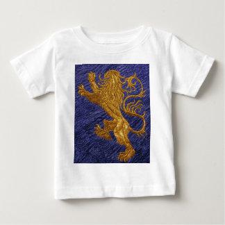 Rampant Lion - gold on blue Baby T-Shirt