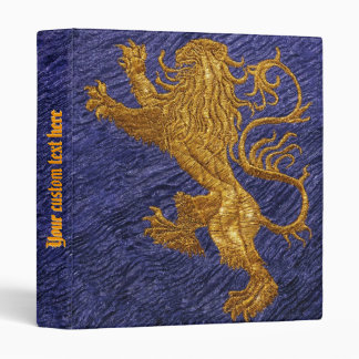 Rampant Lion - gold on blue Binders