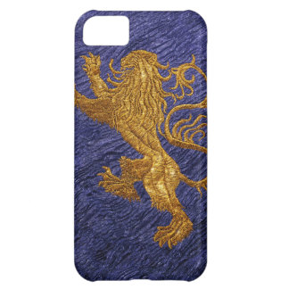 Rampant Lion - gold on blue iPhone 5C Cover