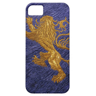 Rampant Lion - gold on blue iPhone SE/5/5s Case