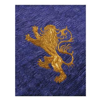 Rampant Lion - gold on blue Letterhead