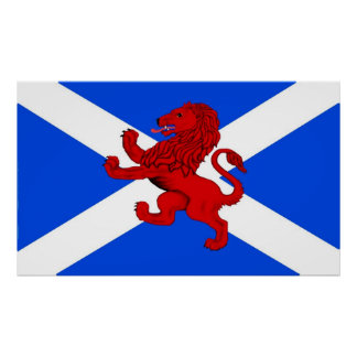 Rampant lion / Scotland's flag Posters