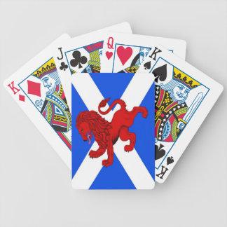 Rampant lion, Scottish flag Saint Andrews Playing  Bicycle Playing Cards