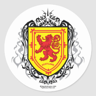 Rampant Lion Tribal Round Sticker