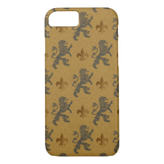 Rampant Lions and Fleurs on Gold iPhone 8/7 Case