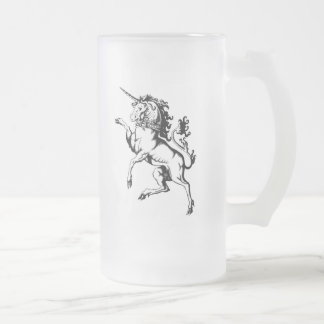 Rampant Unicorn 16 Oz Frosted Glass Beer Mug
