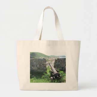 Rampart Cannon Fort Louis Large Tote Bag