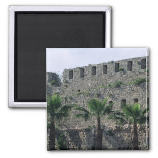 Ramparts from the citadel 2 inch square magnet