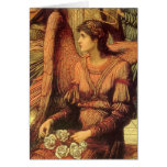 Ramparts of God's House, angel detail by Strudwick Greeting Card