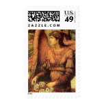 Ramparts of God's House, angel detail by Strudwick Postage Stamps