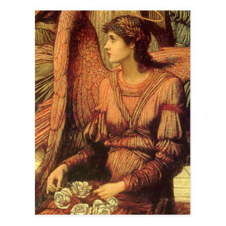 Ramparts of God's House, angel detail by Strudwick Postcard