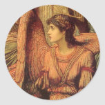 Ramparts of God's House, angel detail by Strudwick Round Sticker