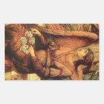 Ramparts of God's House, angel detail by Strudwick Rectangular Sticker