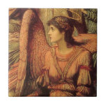 Ramparts of God's House, angel detail by Strudwick Small Square Tile